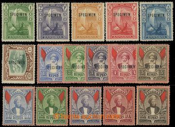 218487 - 1896-1913 SG.170-174, sestava 16 koncových hodnot, oblíben