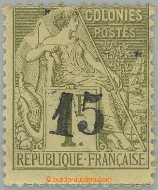 218554 - 1888-1889 Yv.7, Mi.7, přetisková Alegorie 15/1F olivová;