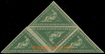 218560 - 1859 SG.8b, Alegorie 1Sh tmavě zelená (deep dark green), n
