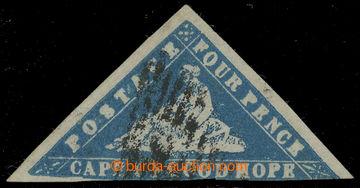 218561 - 1861 SG.14a, Alegorie 4P WOOD-BLOCK modrá (blue), upotřebe