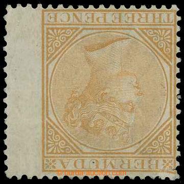 218563 - 1874 SG.5aw, Viktorie (De La Rue) 3P yellow-buff s PŘEVRÁC