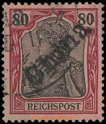 218565 - 1901 Mi.14, PROVIZORIUM TIENTSIN 80Pfg Reichspost, řádně