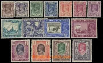 218574 - 1946 SG.51-63, Jiří VI. 3ps-Rs; bezvadná a kompletní sé