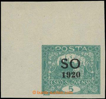 218611 -  Pof.SO3, Hradčany 5h modrozelená bez perforace, levý hor
