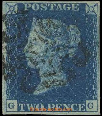 218612 - 1840 SG.5, Penny Blue, písmena G-G, raz. černý Maltézsk�