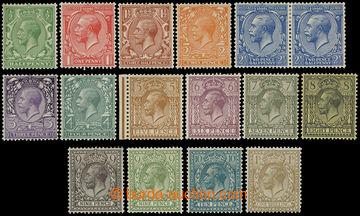 218616 - 1912-1924 SG.351-396, George V. ½P - 1Sh; basic set of 15 s