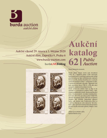 218643 - 2020 BURDA AUCTION s.r.o., catalogue dvoudenní Aukce 62, co