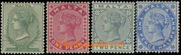 218645 - 1885-1890 SG.20-28, Viktorie ½P - 1Sh fialová, navíc 2½