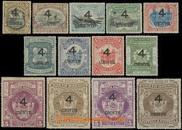218653 - 1899 SG.112-126, přetiskové Motivy 4c/6c - 4c/$10, včetn�