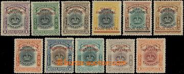 218667 - 1906-1907 SG.141-151, Labuan Crown 1C - 1$ s přetisky STRAI