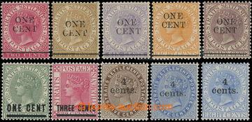 218668 - 1892-1898 SG.88-92, 93-94, 106-108, sestava 3 kompletních p