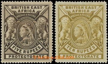 218681 - 1897-1903 SG.96, Viktorie 5R tmavě hnědá a 10R žlutá; t