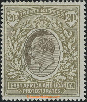 218690 - 1903-1904 SG.15, Edvard VII. 20R grey and stone, průsvitka