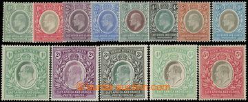 218692 - 1904-1907 SG.17-30, Edvard VII. ½A - 5R, průsvitka Mult Cr