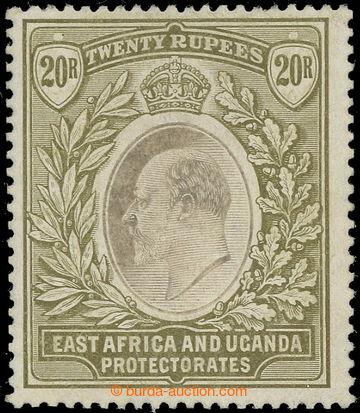 218696 - 1907 SG.32, Edvard VII. 20R grey and stone, průsvitka Mult