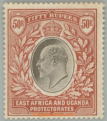 218697 - 1907 SG.33, Edvard VII. 50R šedá / červeno hnědá, průs
