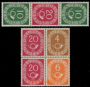 218726 - 1951 Mi.MH-Mi.1, Soutisky ze známkových sešitků, Mi.W2 a