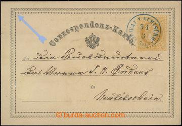 218730 - 1870 Ferch.1, žluťásek 2Kr, I. vydání 1869, modré DR W