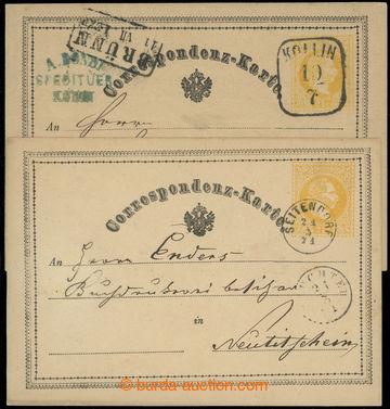 218731 - 1870-1871 Ferch.1, žluťásek 2Kr, I. vydání 1869, sestav