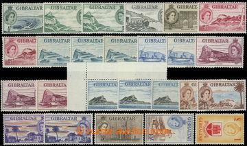 218743 - 1953-1959 SG.145-158, Alžběta II. - Motivy ½P - £1, sest