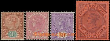 218746 - 1893-1899 SG.245-249, Viktorie 3C - 2R50C; kompletní série