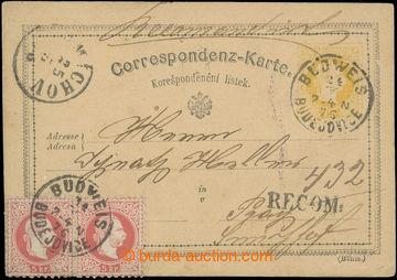218776 - 1876 Ferch.4E, yellow 2 Kreuzer, V. issue 1872/73, German. -