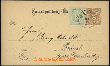 218816 - 1888 Ferch.28, PC 2 Kreuzer Orlice/1883, German text, addres