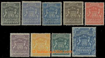 218861 - 1892-1893 SG.1-10, Znak 1P - £1, navíc doplněno o 6P tmav