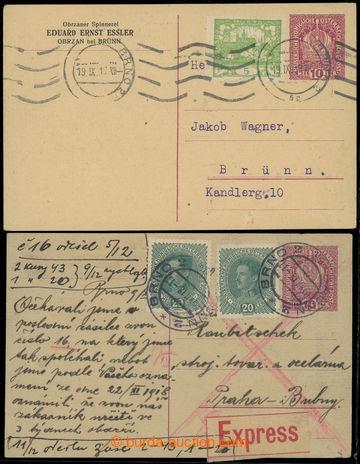 218900 - 1918 CPŘ5 + CPŘ5Pa, rakouská dopisnice 10h Koruna, krémo