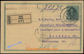 218923 - 1919 CDV1, Velký monogram - Karel 10/8h, přetisková dopis