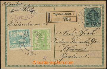 218926 - 1919 CDV1, Velký monogram - Karel 10/8h, přetisková dopis
