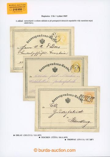 218950 - 1870-1871 Ferch.1, žluťásek 2Kr, I. vydání 1869, sestav
