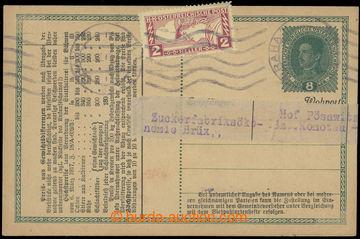 218962 - 1918 CPŘ3, rakouská dopisnice 8h Karel/1917, krémový pap