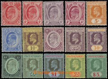 219007 - 1906-1912 SG.153-167, Edvard VII. 3C - £5, průsvitka Mult