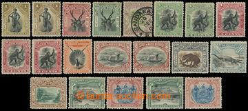 219026 - 1897-1902 SG.92-109, Motivy 1C - 24C, sestava 18 zn. jednotl