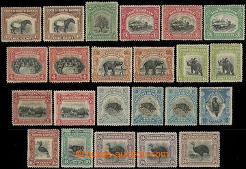 219033 - 1909-1923 SG.158-176, Motivy 1C - 24C, sestava 23 zn., jemn�
