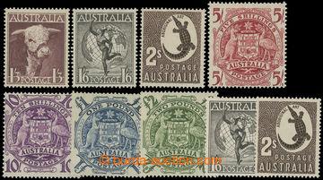 219070 - 1948-1956 SG.223-224, Motivy a znak 1Sh6P - £2 + SG.224e-22