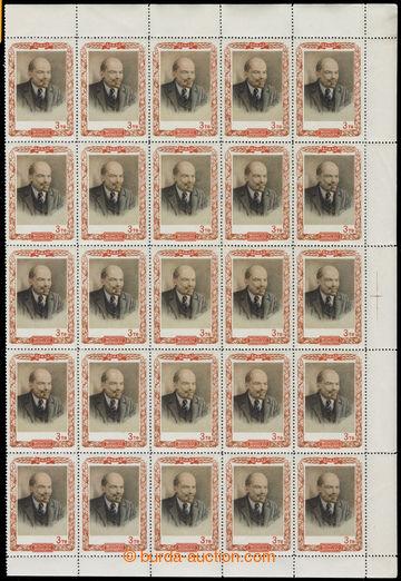 219105 - 1951 Mi.76, Lenin 3 Tugri, pravá 25ks polovina archu; bez n
