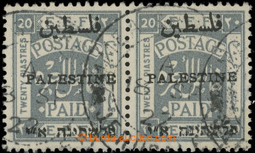 219111 - 1920-1921 SG.59, EEF 20Pia šedá ve vodorovné 2-PÁSCE (!)