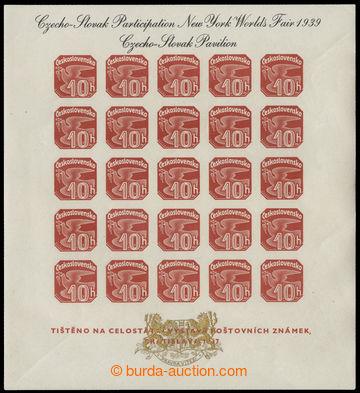 219246 - 1939 AS2e, Novinový aršík 1937, výstava NY 1939, černý