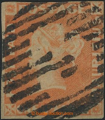 219270 - 1853 MAURITIUS / SG.3, Červený Mauritius POST PAID 1P, SG.