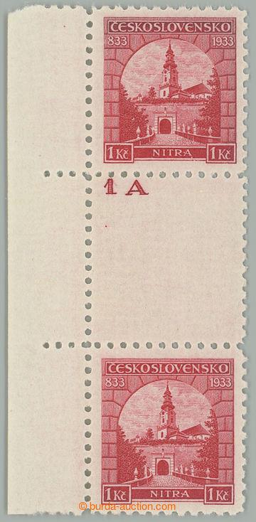 219274 - 1933 ČESKOSLOVENSKO / Pof.274Ms(2), Nitra 1Kč červená, S