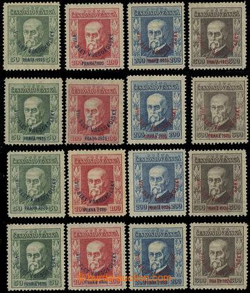 219277 - 1926 Pof.183-186, Slet 50h - 300h, 4x série, pouze průsvit