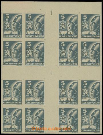 219326 -  Pof.355Mx(16), Big cross 5 Koruna light grey; superb, sough