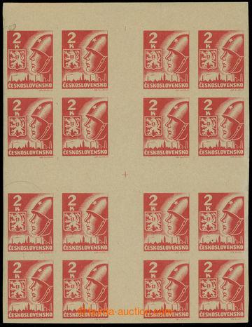 219327 -  Pof.354aMx(16), Velký kříž 2K hnědočervená; dv v lev