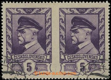 219338 - 1945 Pof.381 VV, Moskevské 5h fialová, vodorovná 2-páska