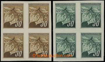 219352 - 1945 NEVYDANÉ / Pof.373N-374N, Lipové listy 30h a 50h v NE