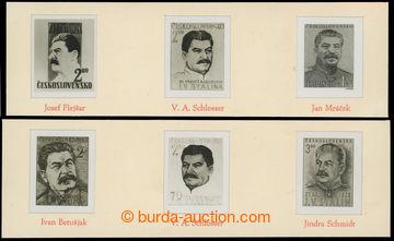 219383 - 1949 ZT  sestava 6ks fotonávrhů na zn. Stalin, Pof.531 a 5