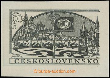 219486 - 1962 PLATE PROOF  PRAGA 1962, plate proof for postal station