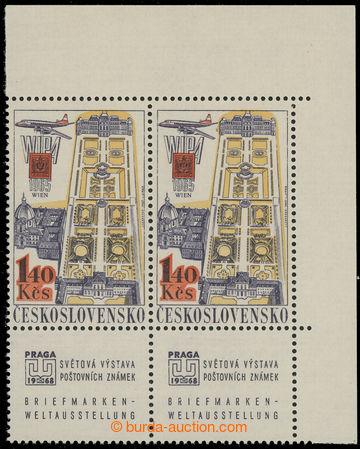 219504 - 1967 Pof.K L59xb, emise leteckých zn. PRAGA 68, hodnota 1,4